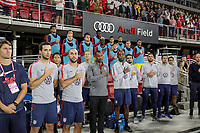 WASHINGTON, D.C. - OCTOBER 11: The U.S. men's  bench of the United States during their Nations League game versus Cuba at Audi Field, on October 11, 2019 in Washington D.C.
