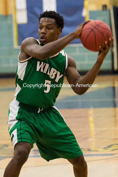 WATERBURY, CT- 13 January 2015-011316EC10-   Action man. Wilby's Darrien Bell against Kennedy Wednesday night. Erin Covey Republican-American