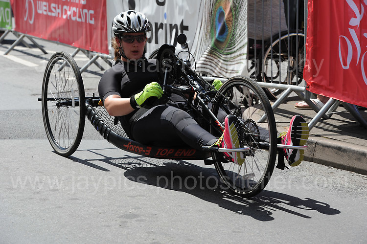 "Competitor Alison Webb during the Abergavenny Festival of Cycling ""Para Grand Prix of Wales"" race on Sunday 17th 2016<br /> <br /> <br /> Jeff Thomas Photography -  www.jaypics.photoshelter.com - <br /> e-mail swansea1001@hotmail.co.uk -<br /> Mob: 07837 386244 -"