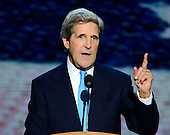 United States Senator John Kerry (Democrat of Massachusetts), the 2004 Democratic nominee for President of the U.S., makes remarks at the 2012 Democratic National Convention in Charlotte, North Carolina on Thursday, September 6, 2012.  .Credit: Ron Sachs / CNP.(RESTRICTION: NO New York or New Jersey Newspapers or newspapers within a 75 mile radius of New York City)
