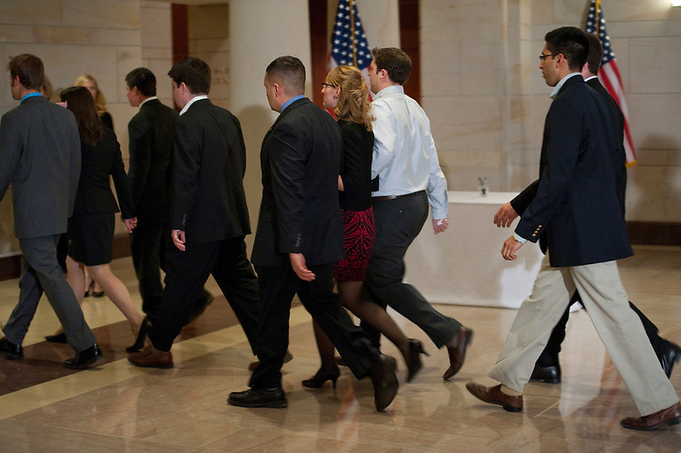 WASHINGTON, DC- Jan. 12: Members of Rep. Gabrielle Giffords' staff arrive for a Congressional Prayer Service at the U.S. Capitol for the victims of the shooting in Tuscon, Ariz., on Jan. 8 that killed six and injured 14, including Giffords, D-Ariz., who is recovering after being shot in the head. (Photo by Scott J. Ferrell/Congressional Quarterly)