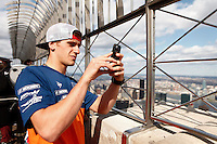 Monster Energy AMA Supercross world Championship Rider Ken Roczen Visits The Empire State Building in New York , April 23, 2014. VIEWPRESS/Kena Betancur