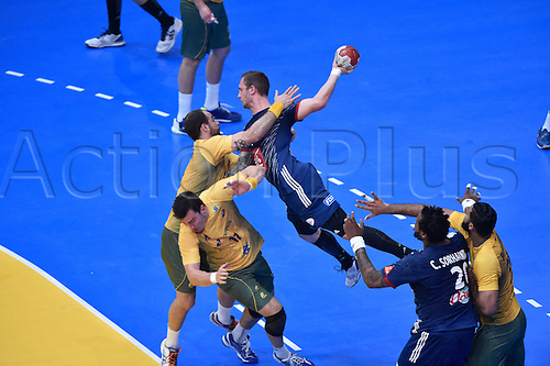 11.01.2017. Accor Arena, Paris, France. 25th World Handball Championships France versus Brazil. Valentin Porte (France)
