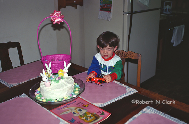 Boy with Easter cake
