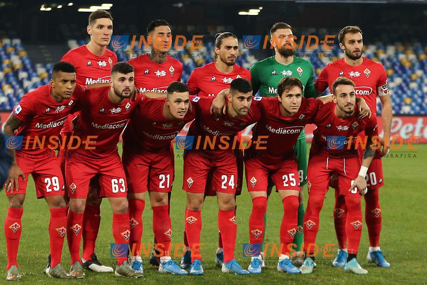 Fiorentina Team line-up <br /> Napoli 18-01-2020 Stadio San Paolo <br /> Football Serie A 2019/2020 <br /> SSC Napoli - ACF Fiorentina<br /> Photo Cesare Purini / Insidefoto