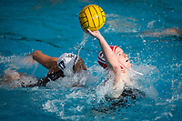 STANFORD, CA - February 4, 2018: Sophie Maguy at Avery Aquatic Center. The Stanford Cardinal defeated Long Beach State 14-2.