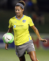 Estelle Johnson #24 of the Philadelphia Independence during a WPS match against the Washington Freedom on August 4 2010 at the Maryland Soccerplex, in Boyds, Maryland. Freedom won 2-0.