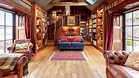 BNPS.co.uk (01202) 558833. <br /> Pic: Strutt&Parker/BNPS<br /> <br /> Living space. <br /> <br /> Have Nessie for a neighbour...<br /> <br /> A beautifully-restored 19th century farmstead just minutes from Loch Ness with stunning Highland views is on the market for £675,000.<br /> <br /> The Steading is in the ancient village of Dores and has been lovingly restored and transformed to create a stylish yet cosy home.<br /> <br /> The house is just a few minutes' walk from the beach at Dores and on a clear day from the shore you can see all the way to the opposite end of the iconic loch - 25 miles away at Fort Augustus - which would be a perfect spot to hunt for its famous monster.<br /> <br /> The Steading would be an ideal property for someone looking for a peaceful, rural retreat in the Scottish Highlands, or could be a good investment property to rent out to holidaymakers.