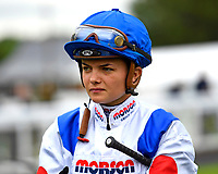 Jockey Megan Nicholls during Evening Racing at Salisbury Racecourse on 11th June 2019