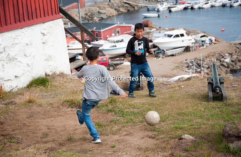 Backyard Soccer Tasiilaq Greenland