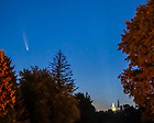 July 13, 2020; Comet Neowise over campus, summer 2020 (Photo by Matt Cashore/University of Notre Dame)