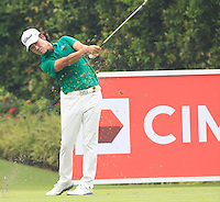 Kevin Na (USA) on the 8th tee during Round 3 of the CIMB Classic in the Kuala Lumpur Golf & Country Club on Saturday 1st November 2014.<br /> Picture:  Thos Caffrey / www.golffile.ie