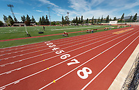 View of Kemp Stadium, Patterson Field and the Bill Henry Track, April 18, 2019.<br /> (Photo by Marc Campos, Occidental College Photographer)