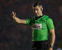 Referee Frank Murphy<br /> <br /> Photographer Bob Bradford/CameraSport<br /> <br /> European Rugby Heineken Champions Cup Pool 3 - Harlequins v Bath Rugby - Saturday 23rd November 2019 - Twickenham Stoop - London<br /> <br /> World Copyright © 2019 CameraSport. All rights reserved. 43 Linden Ave. Countesthorpe. Leicester. England. LE8 5PG - Tel: +44 (0) 116 277 4147 - admin@camerasport.com - www.camerasport.com
