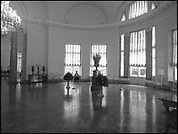 BNPS.co.uk (01202 558833)Pic: MargaretGuyver/BNPS<br /> <br /> The semi-circular hall of Alexander Palace.<br /> <br /> A Russian Grand Duke branded King George V a 'scoundrel' who 'did not lift a finger' to save the Romanov family in the revolution there of 1917, explosive diaries have revealed.<br /> <br /> The cousin of the overthrown Russian Royal family blamed the British King for their executions because he failed to grant them refuge.<br />  <br /> Dmitri Pavlovich no-holds-barred diary extracts have been published for the first time in a new book by respected historian Coryne Hall, To Free The Romanovs.