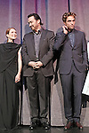 Julianne Moore, John Cusack and Robert Pattinson during the Presentation for 'Maps To The Stars' at the Roy Thomson Hall during the 2014 Toronto International Film Festival on September 9, 2014 in Toronto, Canada.