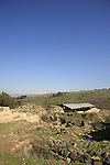 Israel, ruins of the crusader Ateret Fortress (Vadum Iacob) by the Jordan River