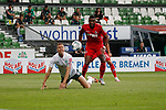 27.06.2020, wohninvest , nphgm001, WESERSTADION, Bremen, Ligaspiel, 1. Bundesliga, SV Werder Bremen vs 1. FC Koeln, im Bild v.l. Niklas Moisander (18, Bremen), Anthony Modeste (27, Koeln)<br /> Foto: Joachim Sielski/Sielski-Press/Pool/gumzmedia/nordphoto<br /><br />DFL regulations prohibit any use of photographs as image sequences and/or quasi-video.<br />EDITORIAL USE ONLY<br />National and international News-Agencies OUT.