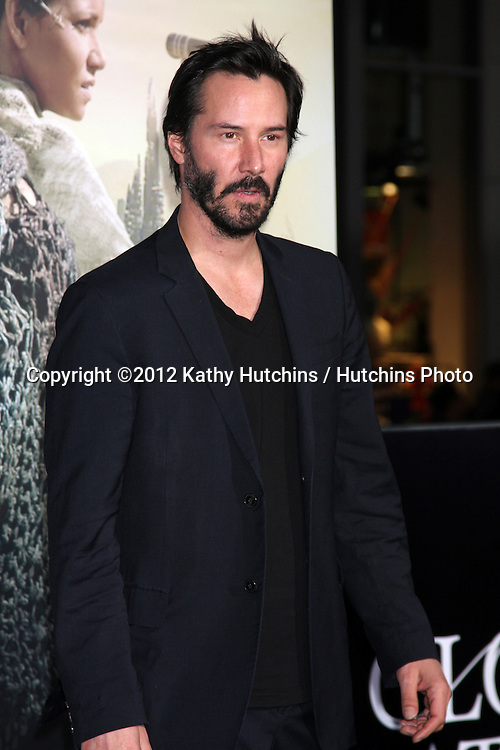 """LOS ANGELES - OCT 24:  Keanu Reeves arrives at the """"Cloud Atlas""""  Los Angeles Premiere  at Grauman's Chinese Theater on October 24, 2012 in Los Angeles, CA"""