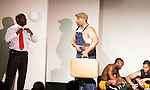 Thaddeus Daniels - Layon Gray - Lamar Cheston - Jeantique Oriol - Layon Gray's Kings of Harlem - a story about the Harlem Rens who were one of the dominant basketball teams of the 1920's and 1930's - had a special show on September 15, 2015 at St. Luke's Theatre, New York City, New York. The play stars Melvin Huffnagle, Thaddeus Daniels, Ade Otukoya, Lamar Cheston, Delano Barbosa, Jeantique Oriol and Layon Gray.  (Photo by Sue Coflin/Max Photos)