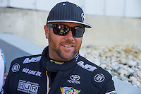 Jun 7, 2015; Englishtown, NJ, USA; NHRA top fuel driver Shawn Langdon during the Summernationals at Old Bridge Township Raceway Park. Mandatory Credit: Mark J. Rebilas-