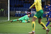 1st December 2017, Cardiff City Stadium, Cardiff, Wales; EFL Championship Football, Cardiff City versus Norwich City; Neil Etheridge of Cardiff City makes a save as Norwich City try to come back into the game