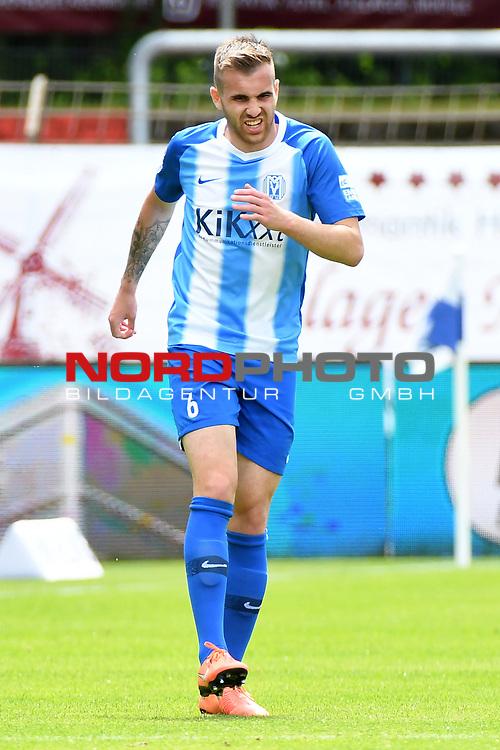 28.06.2020, Hänsch-Arena, Meppen, GER, 3.FBL, SV Meppen vs. FC Ingolstadt 04 <br /> <br /> im Bild<br /> Marco Komenda (SV Meppen, 6)<br /> <br /> DFL REGULATIONS PROHIBIT ANY USE OF PHOTOGRAPHS AS IMAGE SEQUENCES AND/OR QUASI-VIDEO<br /> <br /> Foto © nordphoto / Paetzel