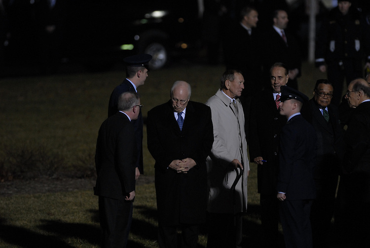 Honorary pallbearer Vice President Dick Cheney waits outside the Front Steps on the House side of the U.S. Capitol December 30, 2006 in Washington, DC. Ford will lie in state in the Rotunda of the capitol until January 2, 2007 when the remains will travel to Grand Rapids, Michigan, where he will be laid to rest at his presidential library.