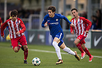 Harvey St Clair of Chelsea during the UEFA Youth League group match between Chelsea and Atletico Madrid Juvenil A at the Chelsea Training Ground, Cobham, England on 5 December 2017. Photo by Andy Rowland.