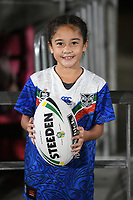 A young Warriors supporter gets to run on with the match ball.<br /> NRL Premiership rugby league. Vodafone Warriors v St George Illawarra. Mt Smart Stadium, Auckland, New Zealand. Friday 20 April 2018. &copy; Copyright photo: Andrew Cornaga / www.Photosport.nz