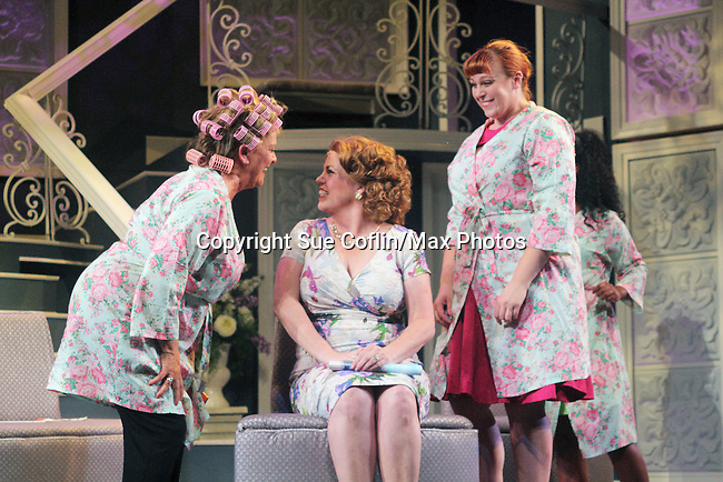 "Guiding Light's Kim Zimmer stars with All My Children's Jane Brockman and Molly Tower in ""It Shoulda Been You"" - a new musical comedy - at the Gretna Theatre on July 30, 2016. Both Jane and Kim starred separate companies of the national tour of Wicked. (Photo by Sue Coflin/Max Photos)"