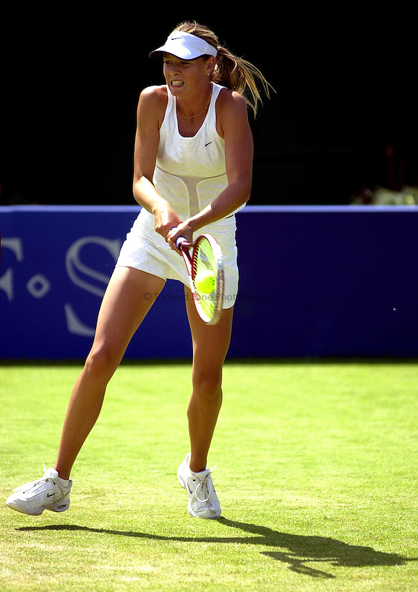 Photo: Richard Lane..DFS Classic Women's International Tennis at Edgebaston. 12/06/2003..Maria Sharapova.