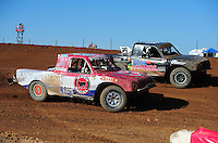 Apr 17, 2011; Surprise, AZ USA; LOORRS driver Pete Sohren (22) races alongside Richard Cassey (29) during round 4 at Speedworld Off Road Park. Mandatory Credit: Mark J. Rebilas-