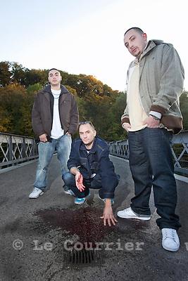 Genève, le 27.10.2009.Jonas rapeur, clip video GSSA..© Le Courrier / J.-P. Di Silvestro