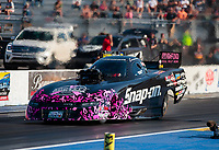 Sep 27, 2019; Madison, IL, USA; NHRA funny car driver Cruz Pedregon during qualifying for the Midwest Nationals at World Wide Technology Raceway. Mandatory Credit: Mark J. Rebilas-USA TODAY Sports