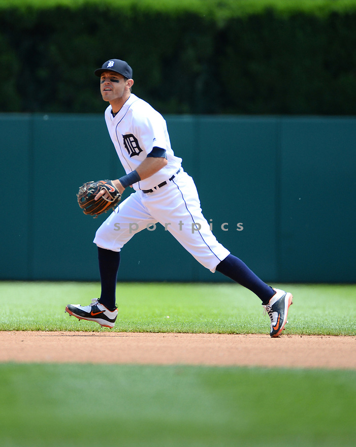 Detroit Tigers Ian Kinsler (3) during a game against the Toronto Blue Jays on June 8, 2016 at Comerica Park in Detroit MI. The Blue Jays beat the Tigers 7-2.