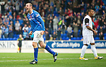 St Johnstone v Inverness Caley Thistle...15.10.11   SPL Week 11.Dave Mackay celebrates his goal.Picture by Graeme Hart..Copyright Perthshire Picture Agency.Tel: 01738 623350  Mobile: 07990 594431