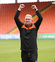 Blackpool's Manager Terry McPhillips celebrates at the end of todays match<br /> <br /> Photographer Rachel Holborn/CameraSport<br /> <br /> The EFL Sky Bet League One - Blackpool v Bradford City - Saturday September 8th 2018 - Bloomfield Road - Blackpool<br /> <br /> World Copyright &copy; 2018 CameraSport. All rights reserved. 43 Linden Ave. Countesthorpe. Leicester. England. LE8 5PG - Tel: +44 (0) 116 277 4147 - admin@camerasport.com - www.camerasport.com