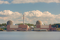 Indian Point Energy Center, a nuclear power plant in Buchanan, New York as seen across the river from Stony Point, New York