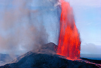 Kilauea volcano with fountaining eruption, Big Island of Hawaii
