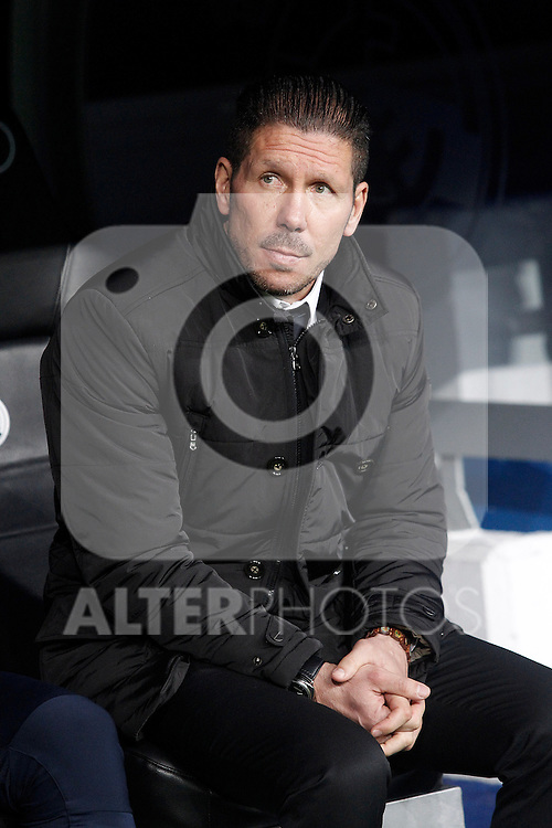 Atletico de Madrid's coach Diego Pablo Cholo Simeone during Spanish King's Cup match.January 15,2015. (ALTERPHOTOS/Acero)