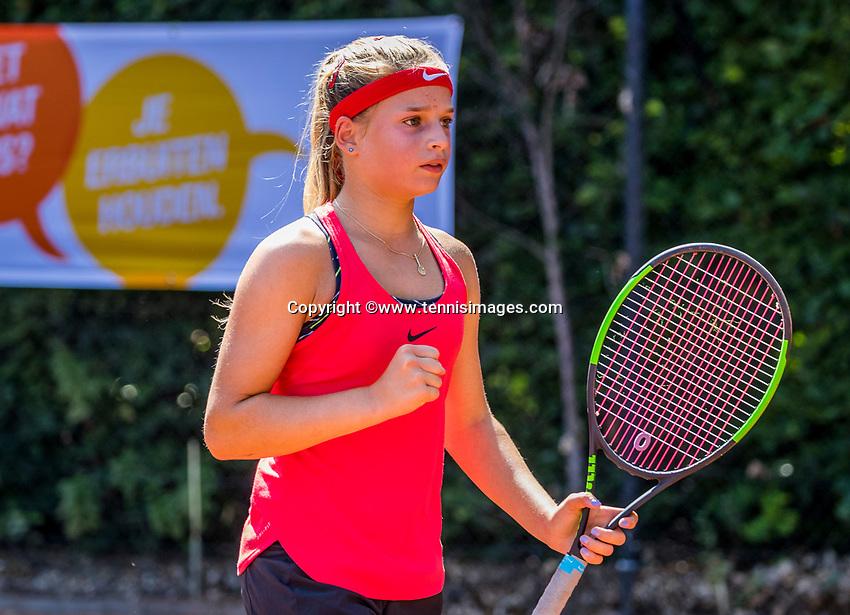 Hilversum, Netherlands, August 7, 2017, National Junior Championships, NJK, Anouck Vrancken Peeters<br /> Photo: Tennisimages/Henk Koster