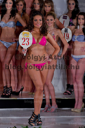 Jenifer Illyes runner up of the Teen Miss Hungary beauty contest held in Budapest, Hungary on December 29, 2011. ATTILA VOLGYI