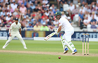 South Africa's Dean Elgar hits a boundary of the bowling of England's Mark Wood<br /> <br /> Photographer Stephen White/CameraSport<br /> <br /> Investec Test Series 2017 - Second Test - England v South Africa - Day 3 - Sunday 16th July 2017 - Trent Bridge - Nottingham<br /> <br /> World Copyright &copy; 2017 CameraSport. All rights reserved. 43 Linden Ave. Countesthorpe. Leicester. England. LE8 5PG - Tel: +44 (0) 116 277 4147 - admin@camerasport.com - www.camerasport.com