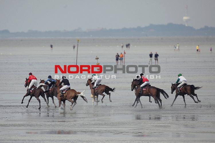 Vom Pferdewattrennen am Badestrand von Duhnen in Cuxhaven - gesehen am 19.07.2009. <br /> <br /> <br /> Foto: &copy; nph ( nordphoto )