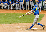 MIDDLETOWN, CT. 06 June 2018-060618BS517 - Seymour's John Chacho (7) hits for a double during the CIAC Tournament Class M Semi-Final baseball game between Seymour and St Joseph at Palmer Field on Wednesday evening. Seymour beat St Joseph 8-0 and will play Wolcott for the Class M championship on Saturday. Bill Shettle Republican-American
