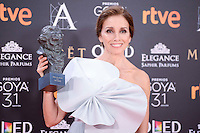 Ana Belen pose to the media with the honorific Goya  award at Madrid Marriott Auditorium Hotel in Madrid, Spain. February 04, 2017. (ALTERPHOTOS/BorjaB.Hojas) /NORTEPHOTO.COM