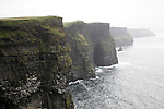 Near vertical cliff face over 200 metres high, Cliffs of Moher, Atlantic Coast, County Clare, Ireland