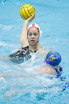 INDIANAPOLIS, IN - MAY 14: Shannon Cleary (12) of Stanford University in action against Alexis Angermund (15) of UCLA during the Division I Women's Water Polo Championship held at the IU Natatorium-IUPUI Campus on May 14, 2017 in Indianapolis, Indiana. (Photo by Joe Robbins/NCAA Photos/NCAA Photos via Getty Images)