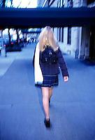 Schoolgirl running<br />